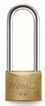 Papaiz 200 Series 40mm Long Shackle Brass Padlock
