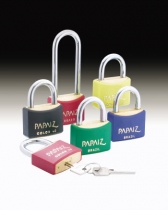 Solid Brass Safety Lockout Padlocks in 5 Colours